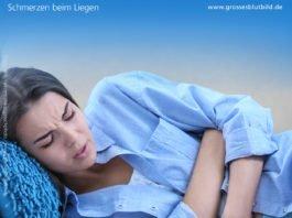 Schmerzen in der Brust beim Liegen